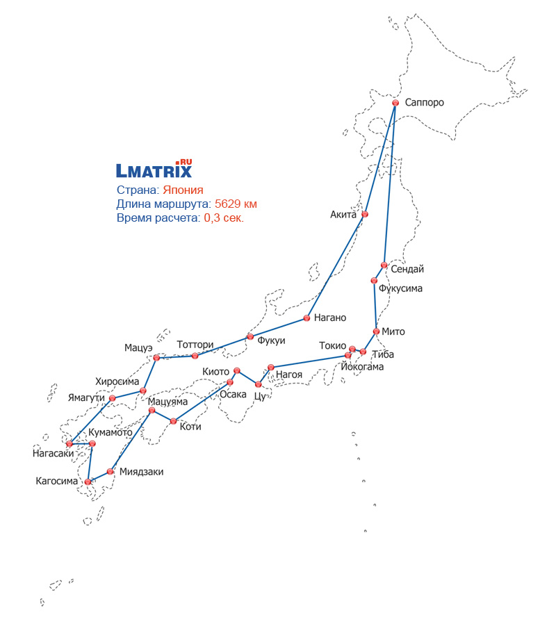 туристический маршрут в японии подроду